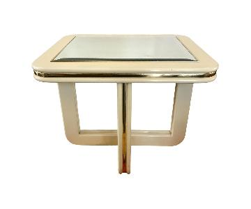 Vintage Coffee Table Lacquer w/ Mirror Top