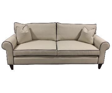 Classic Sofa White Trim Sofa
