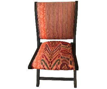 Anthropologie Terai Folding Chair in Red Ikat