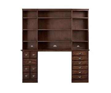 Pottery Barn Printer's Desk w/ Hutch