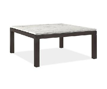 Room & Board Coffee Table in Venatino Marble & Natural Steel