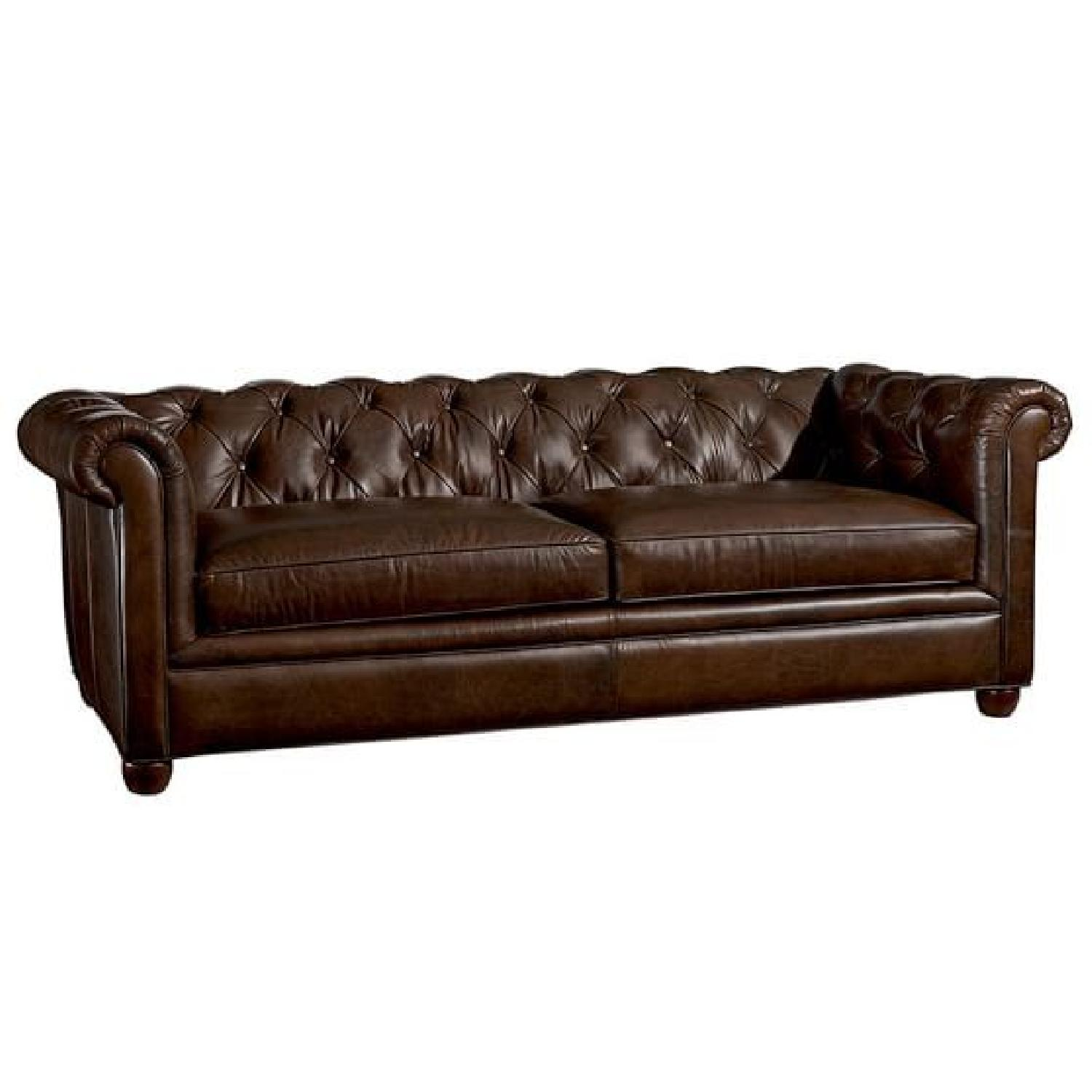 Pottery Barn Chesterfield Leather Sofa Aptdeco