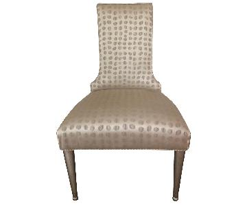 John-Richard Collection Silk Covered Accent Chair