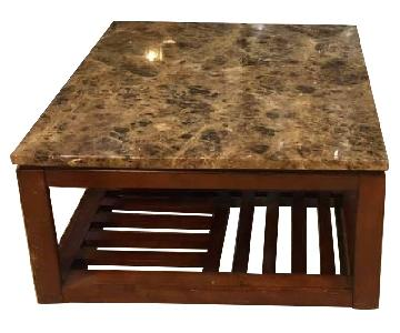 Cherry Marble Coffee Table