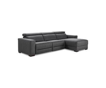 Macy's Grey Fabric Reclining Sectional Sofa w/ Chaise