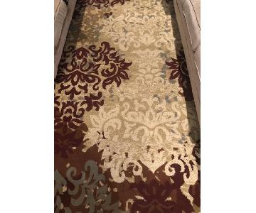 Ivory/Red Floral Area Rug