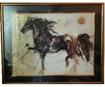 Black & Gold Horse Painting
