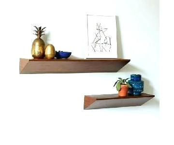 West Elm Wood Floating Shelves