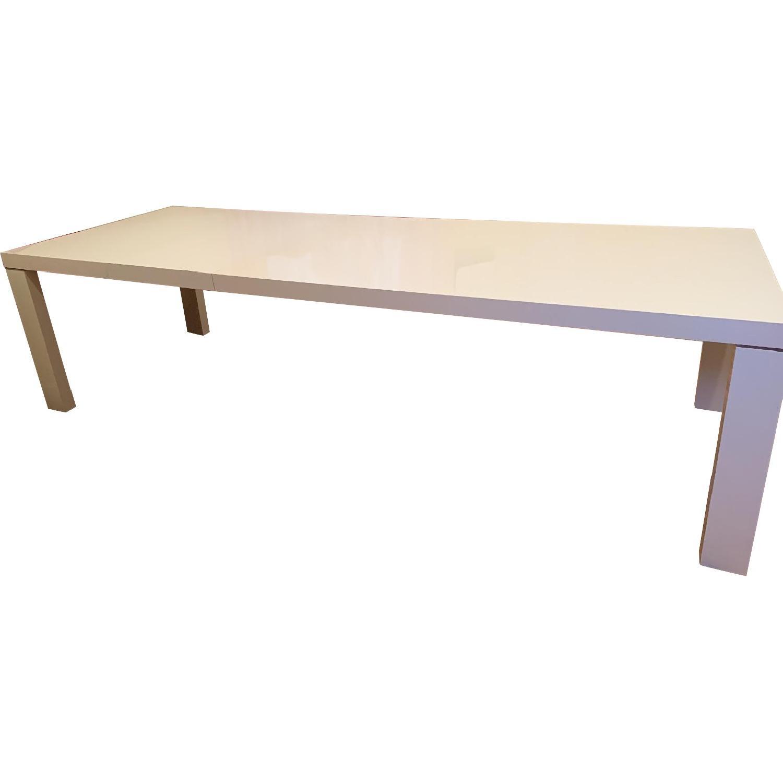 Astonishing Ligne Roset White Gloss Lacquer Extendable Dining Table Short Links Chair Design For Home Short Linksinfo