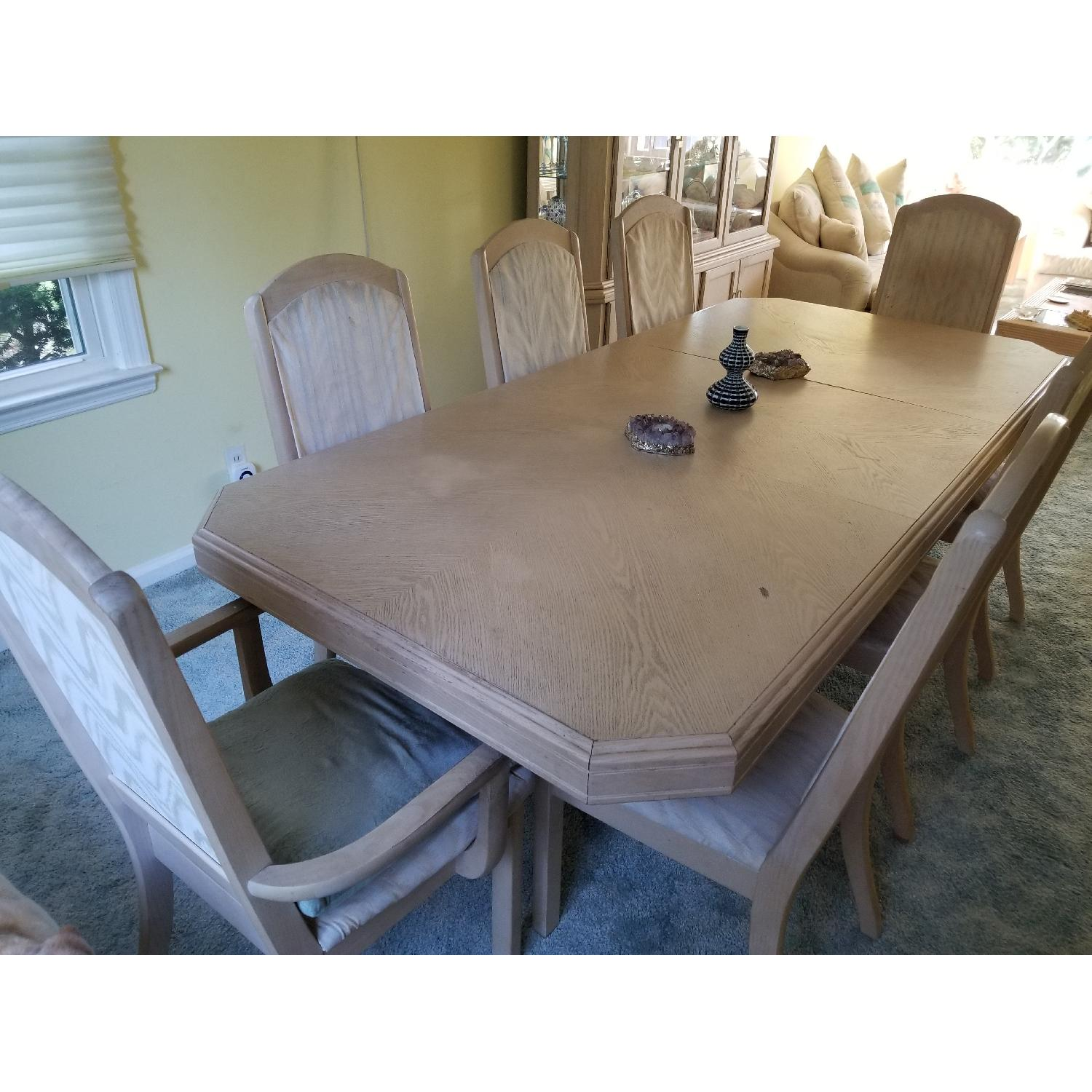 Seaman's Furniture Whitewash 9-Piece Dining Set - image-1