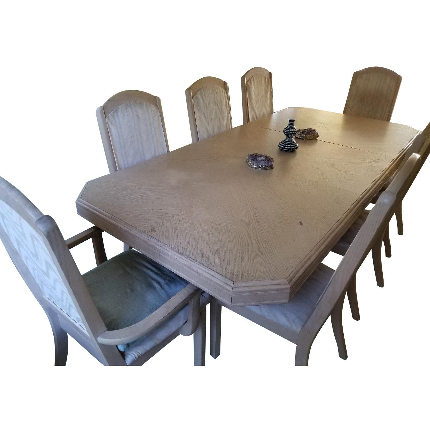 Seaman's Furniture Whitewash 9-Piece Dining Set - image-0
