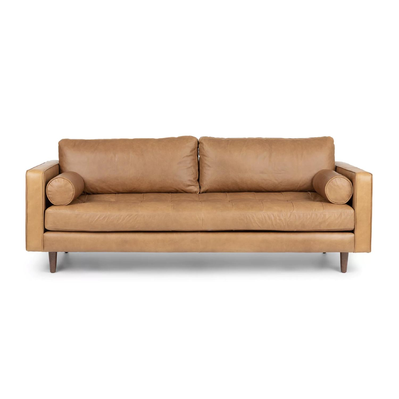 Article Sven Mid Century Modern Velvet Sofa Aptdeco