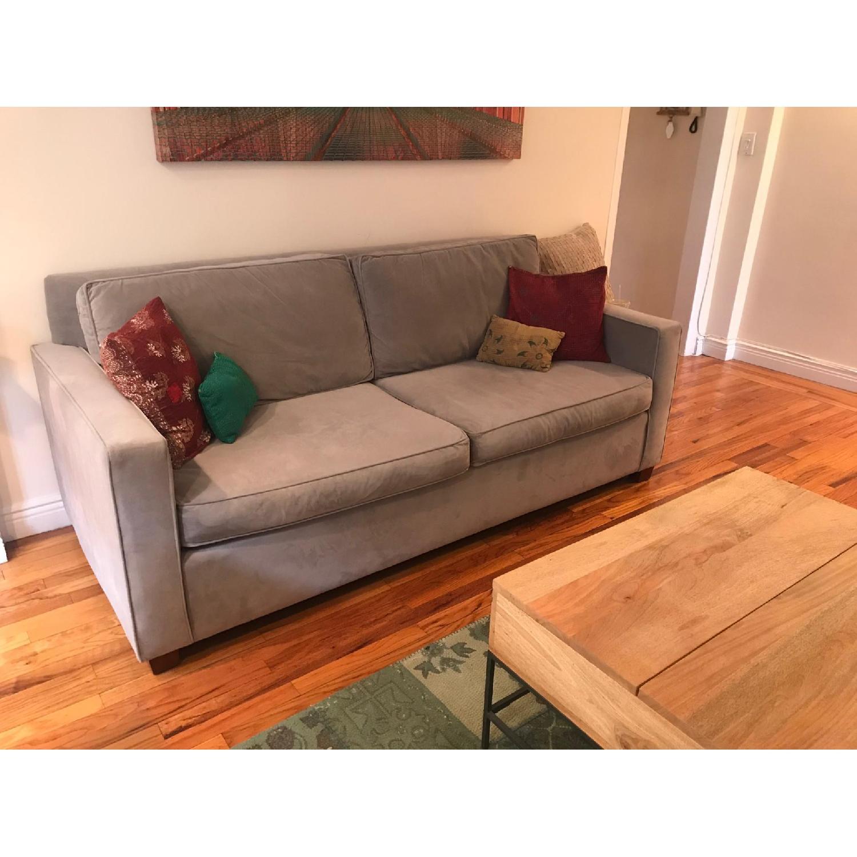 West Elm Dove Gray Henry Queen Sleeper Sofa - AptDeco