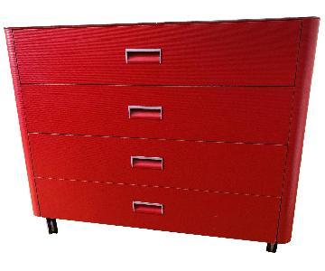 Ligne Roset Contour Red Glossy Top Dresser
