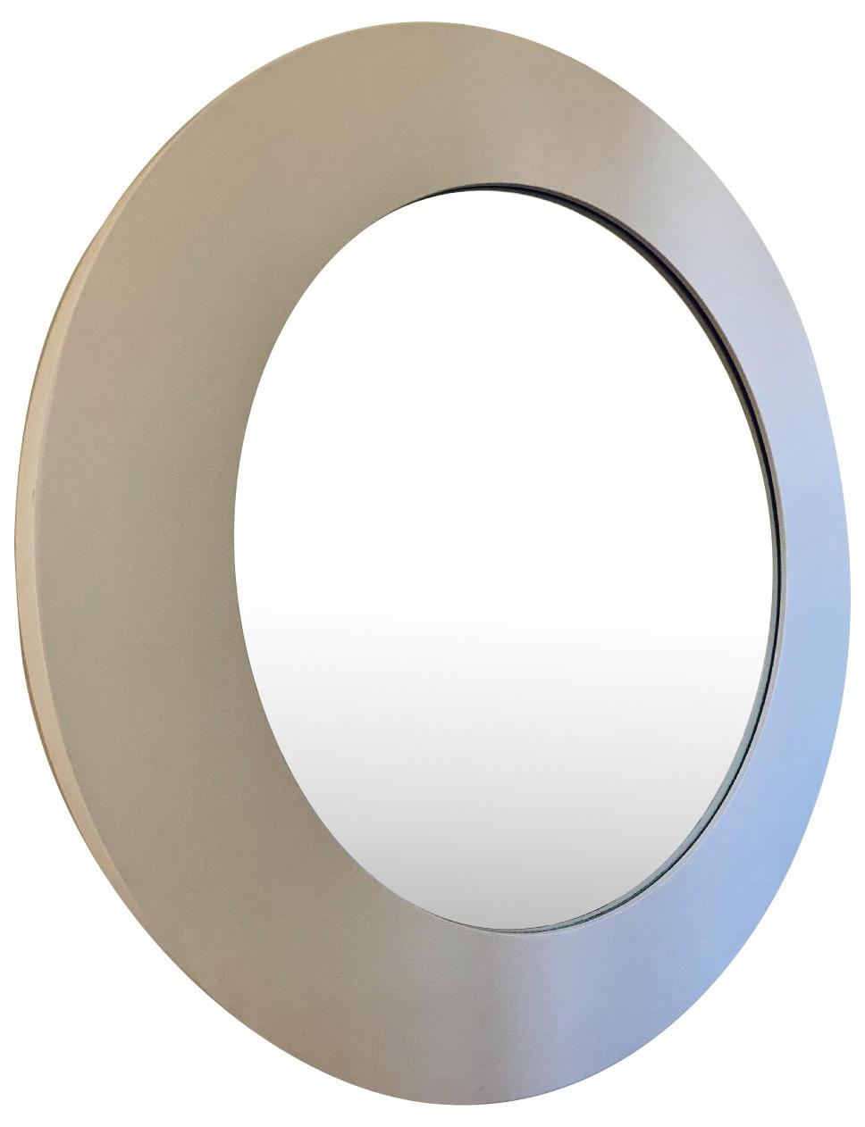 BoConcept White Glossy Lacquer Round Mirror