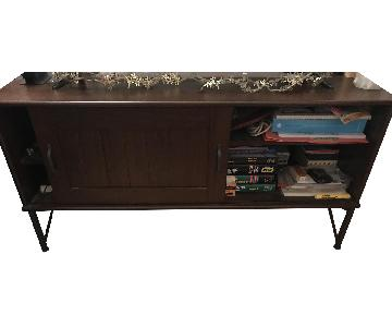 Ikea TV Stand w/ Shelving & Doors