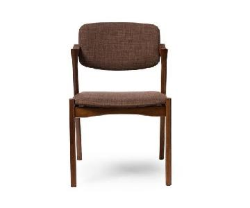 Baxton Studio Brown Fabric Upholstered Dining Chairs