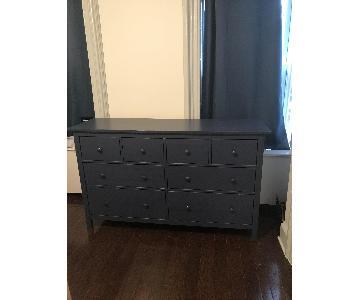 Ikea Hemnes Periwinkle Wood 8-Drawer Dresser