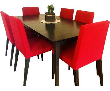 Room & Board Adams Extension Dining table w /6 Chairs