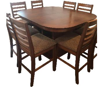 Pub Height Dining Table w/ 8 Chairs