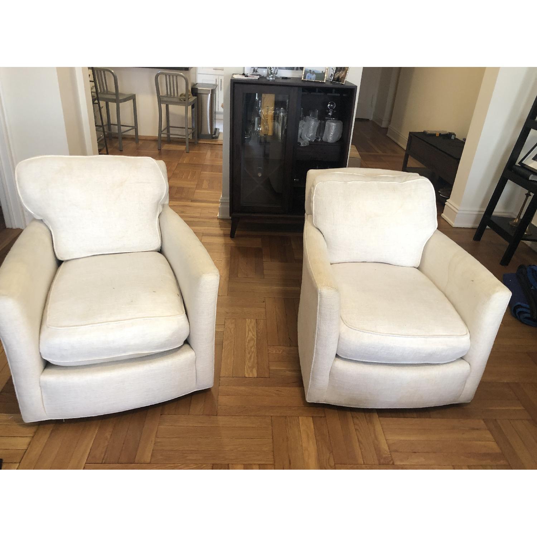 Crate & Barrel Talia Swivel Chairs-0