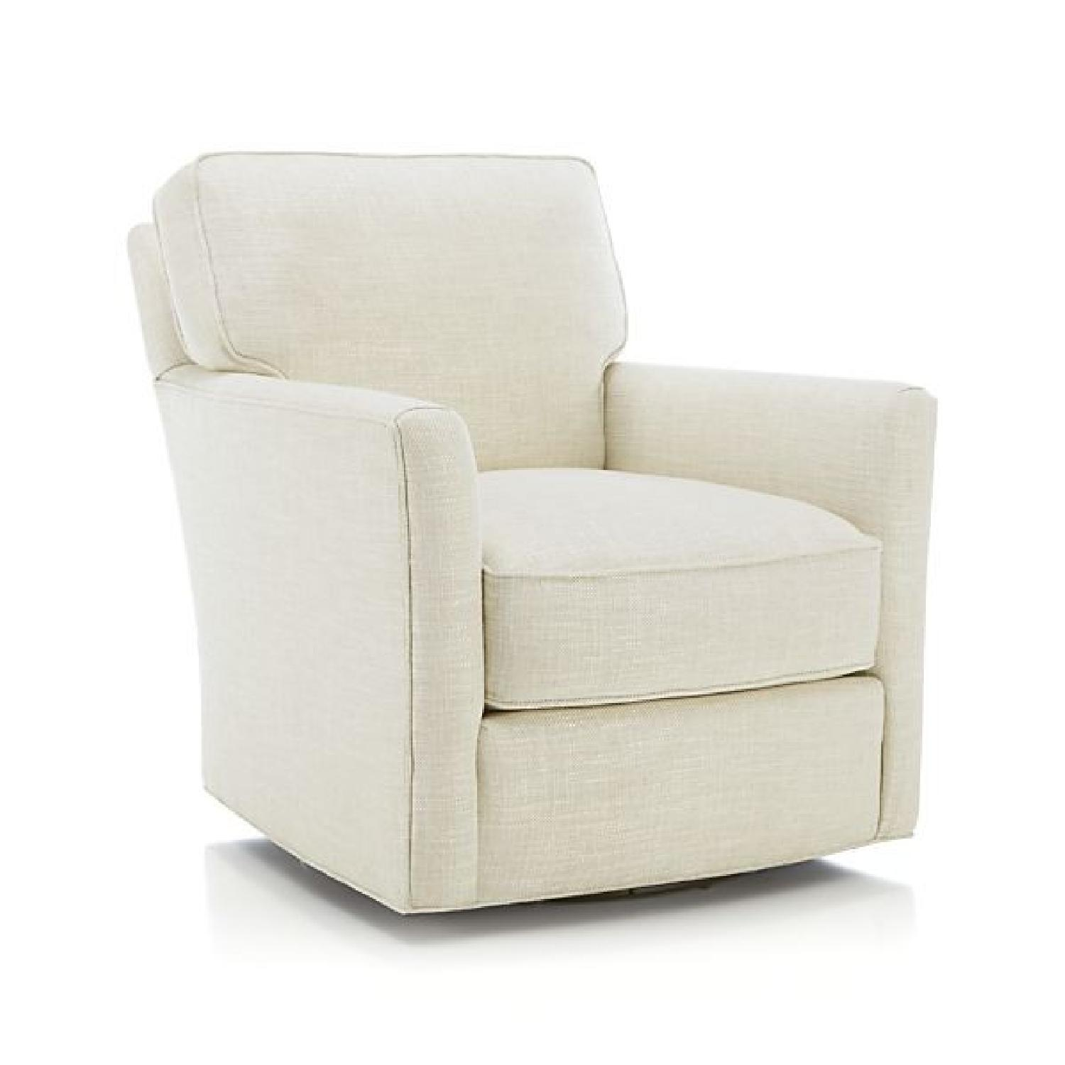 Crate & Barrel Talia Swivel Chairs