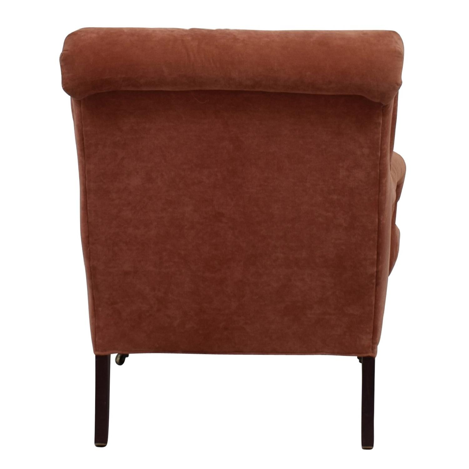 Kathy Pink Arm Chair w/ Castors - image-2