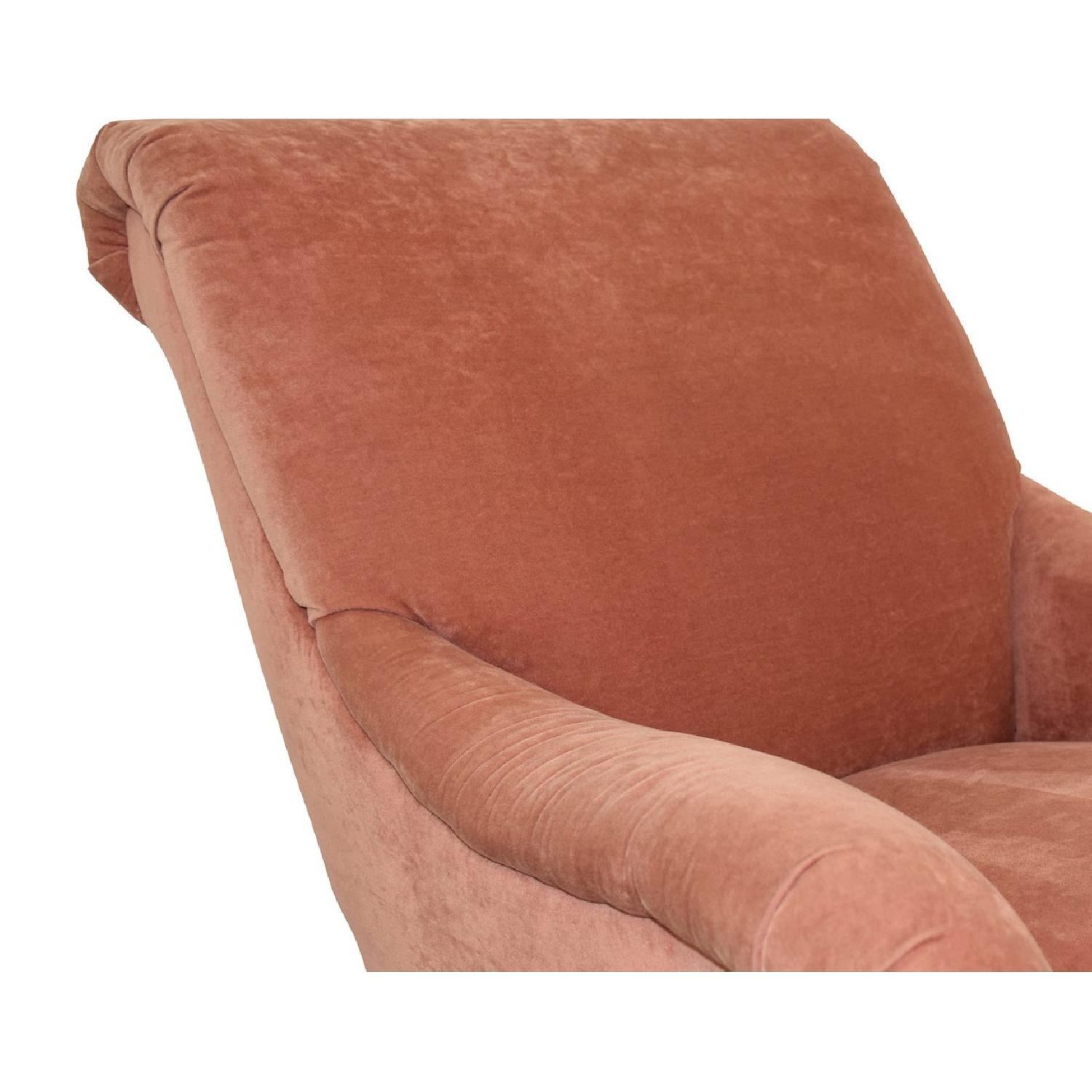 Kathy Pink Arm Chair w/ Castors - image-6
