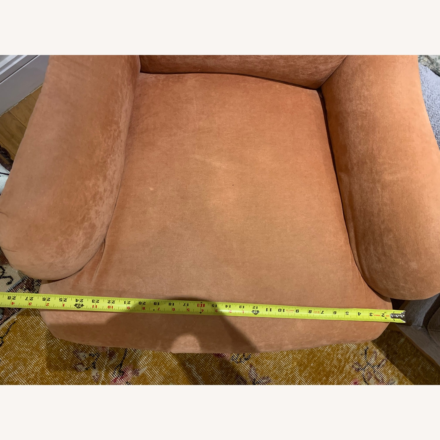 Kathy Pink Arm Chair w/ Castors - image-8