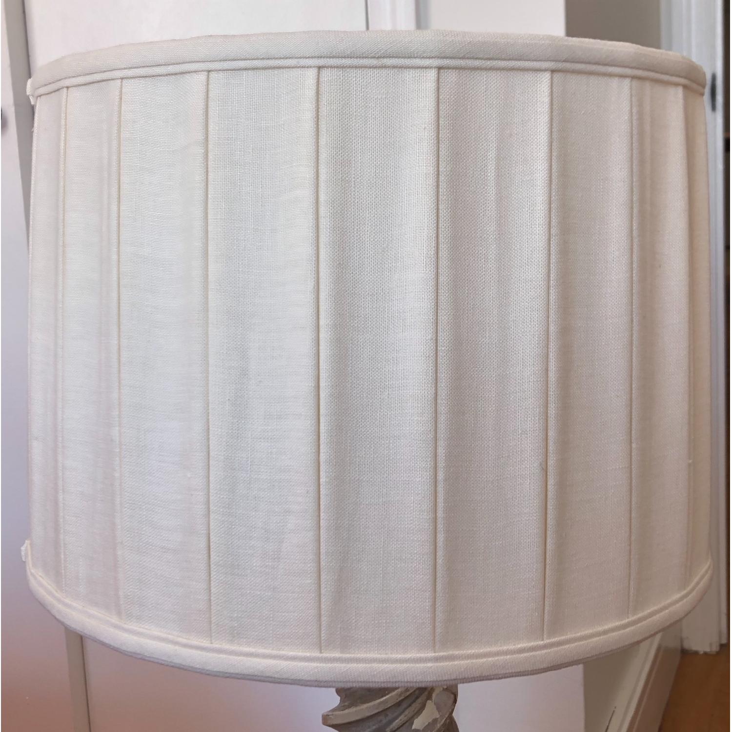 Pleated Linen Drum Lampshade - image-2