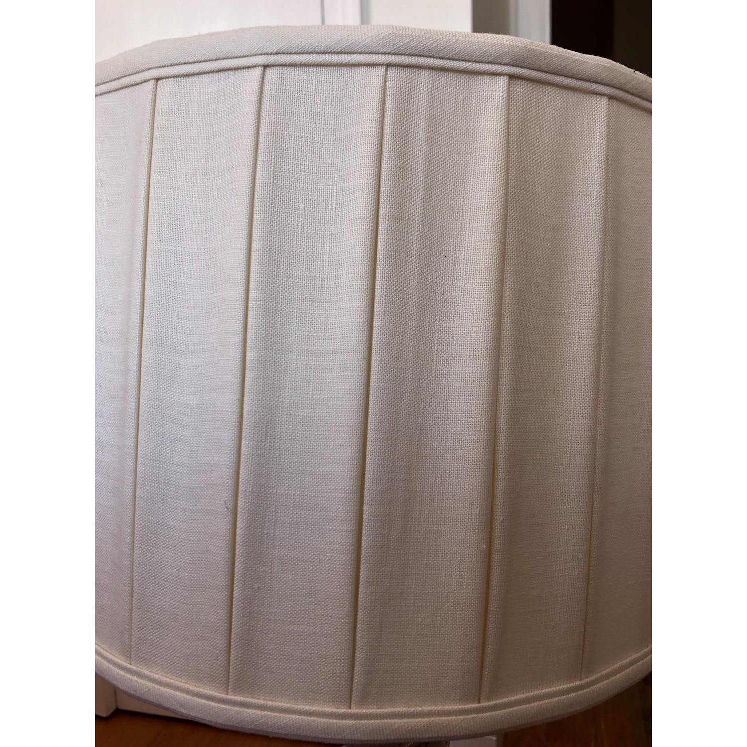 Pleated Linen Drum Lampshade-2