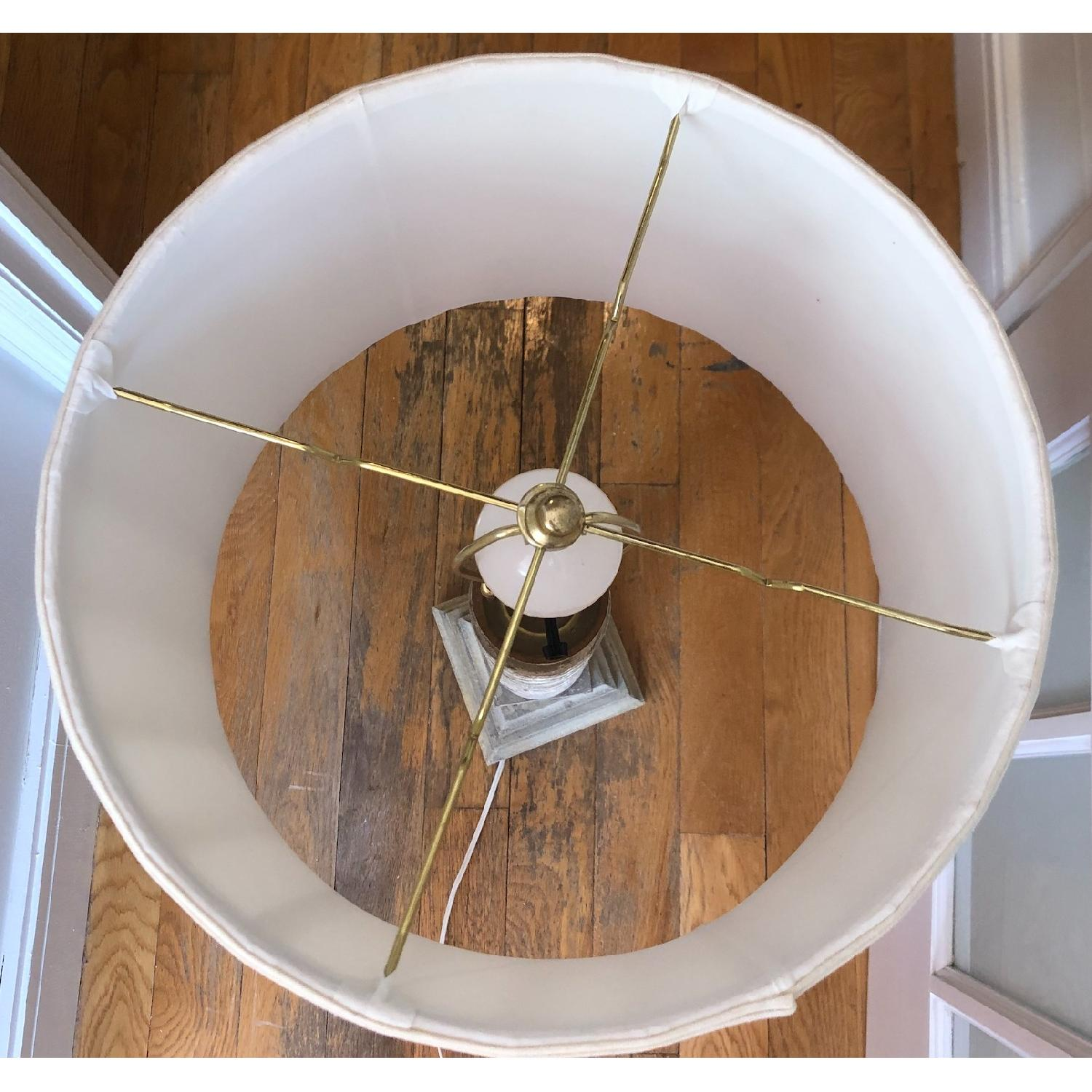 Pleated Linen Drum Lampshade-3
