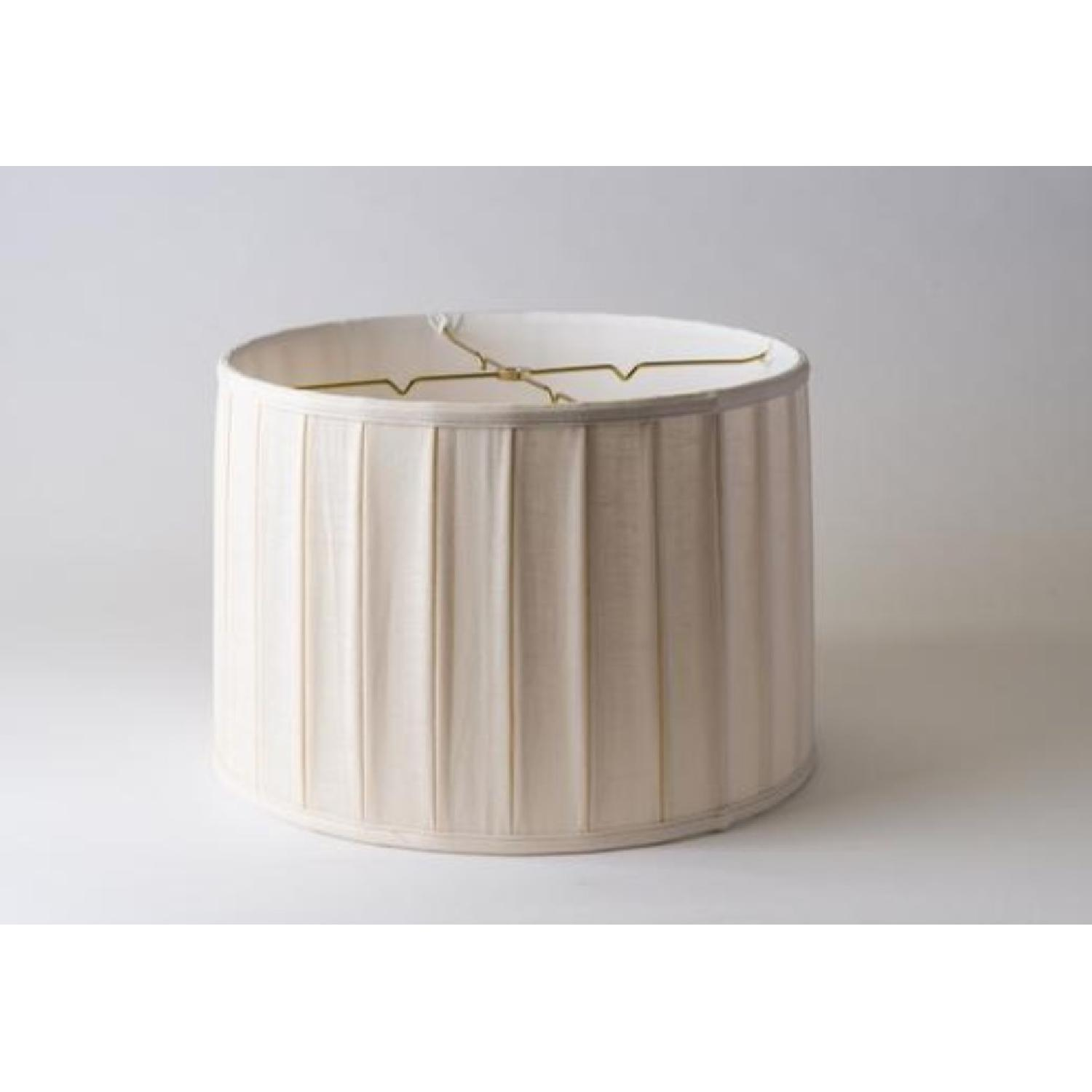 Pleated Linen Drum Lampshade-4