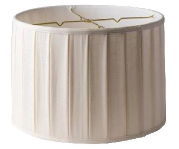 Pleated Linen Drum Lampshade