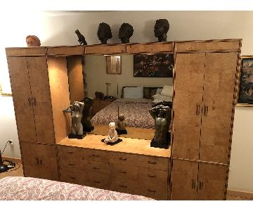 Henredon Solid Wood Storage w/ Double Mirror