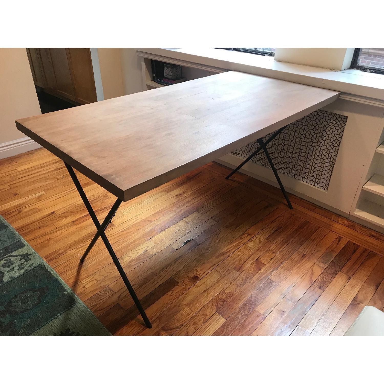 West Elm Metal Truss Work Table in Raw Mango-0