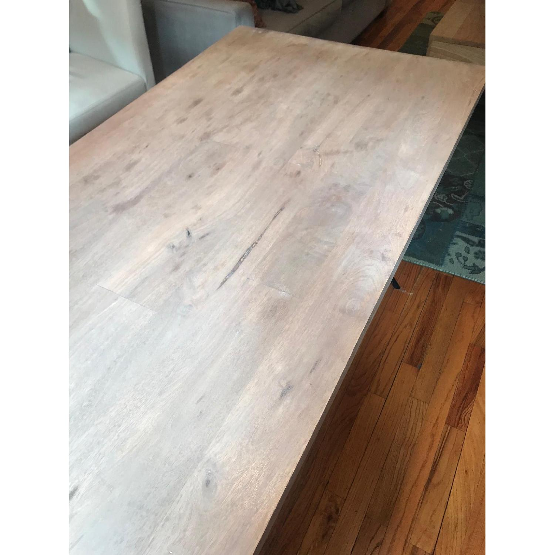 West Elm Metal Truss Work Table in Raw Mango-2