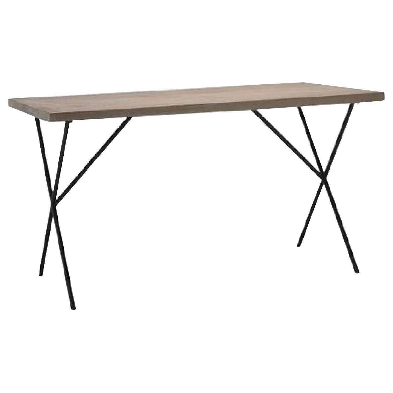 West Elm Metal Truss Work Table in Raw Mango