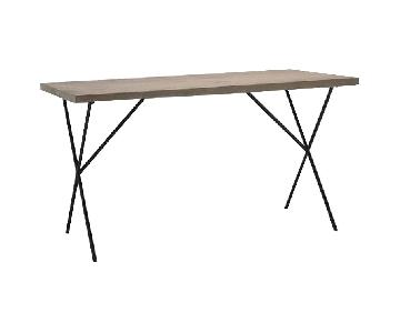 West Elm Metal Truss Work Table in Raw Mango