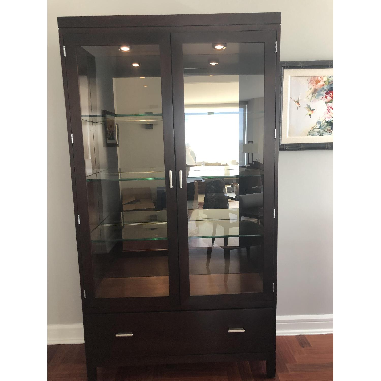 Stickley Display Cabinet w/ Drawer-0