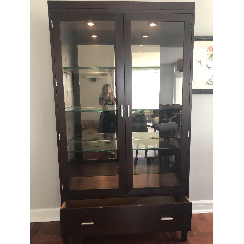 Stickley Display Cabinet w/ Drawer-2