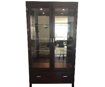 Stickley Display Cabinet w/ Drawer