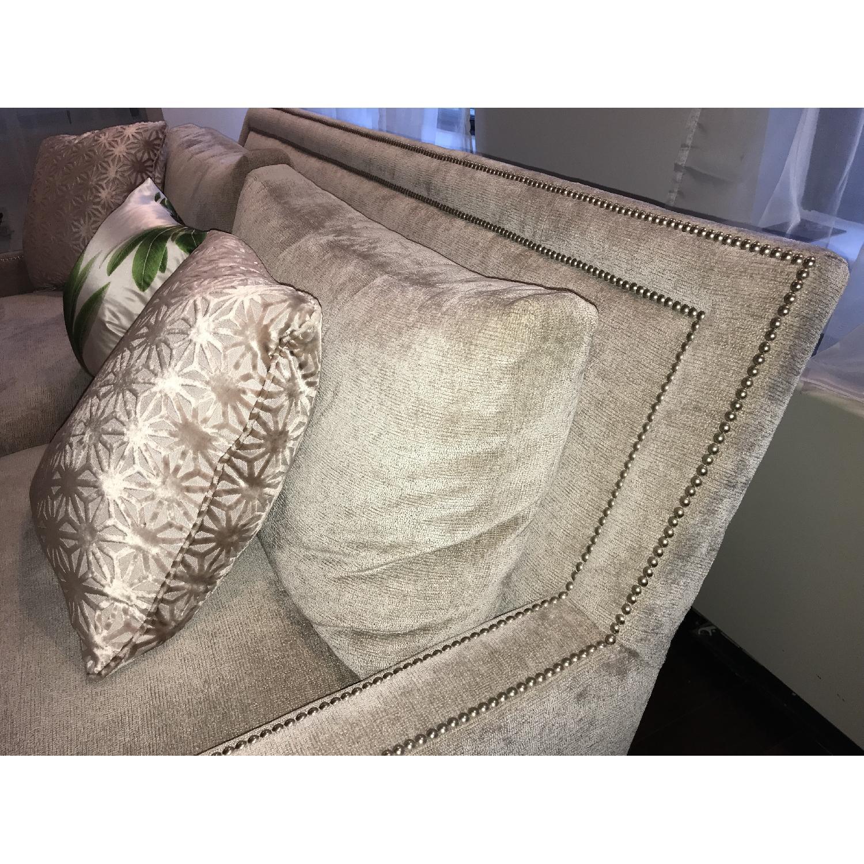 Safavieh 2 Seater Chenille Sofa w/ Studs-2