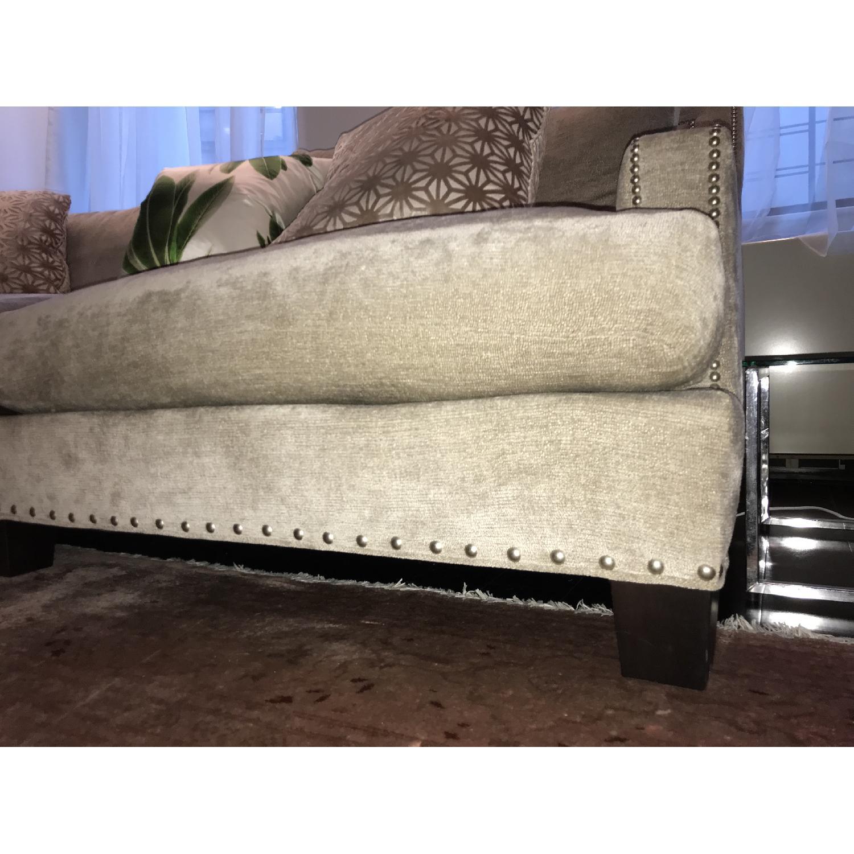 Safavieh 2 Seater Chenille Sofa w/ Studs-3
