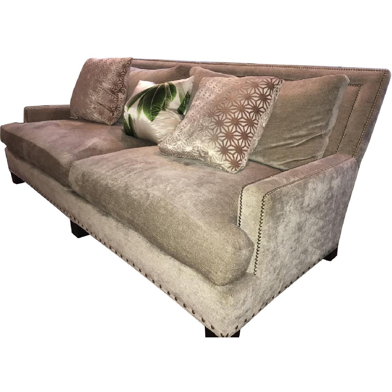 Safavieh 2 Seater Chenille Sofa w/ Studs