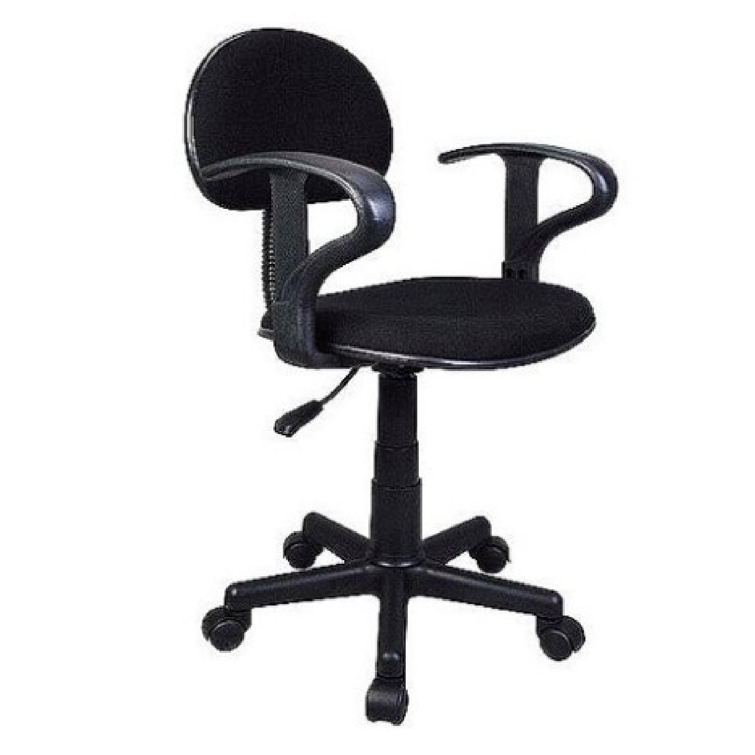 Black Task Chair w/ arms-0