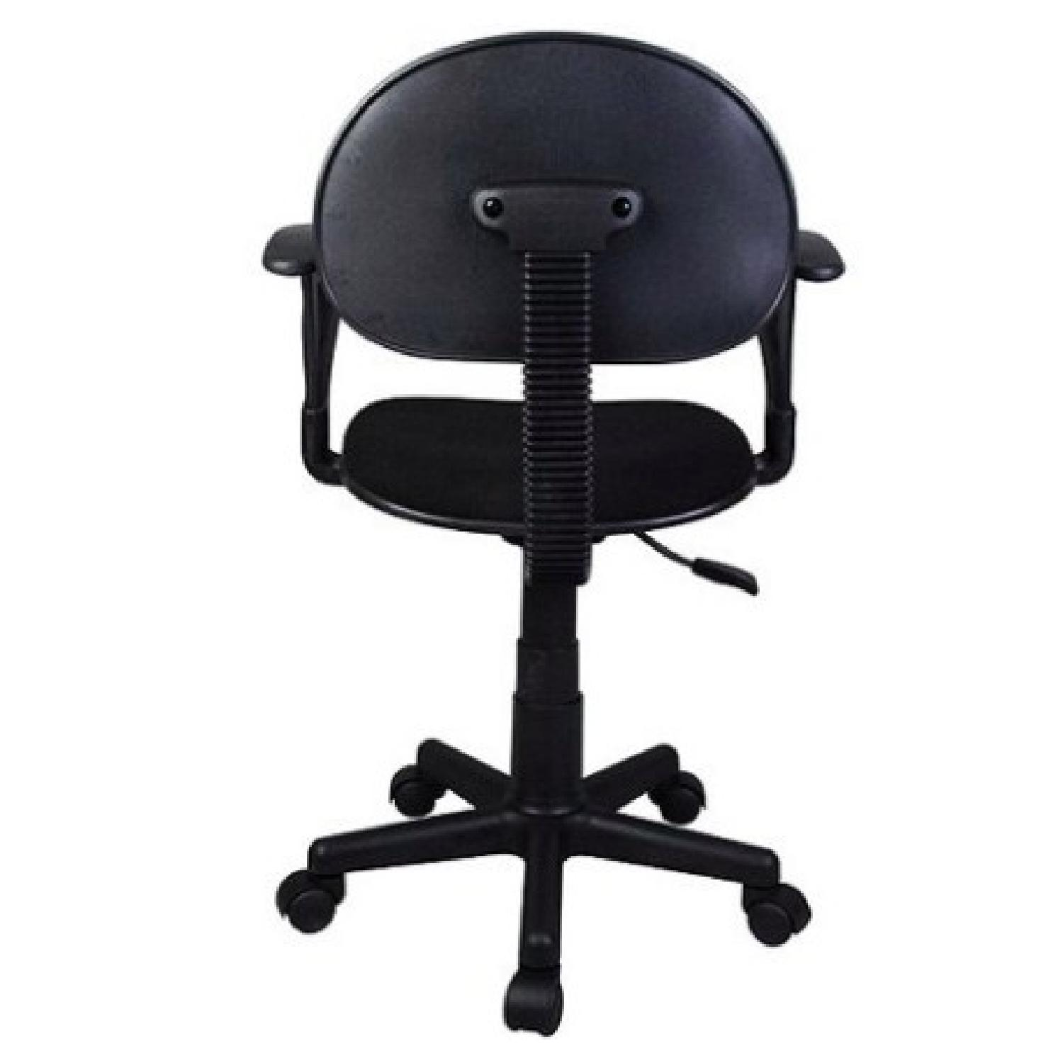 Black Task Chair w/ arms-2