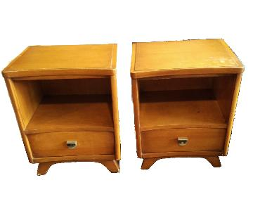 Kent Coffey The Archer Wood Mid Century Nightstands