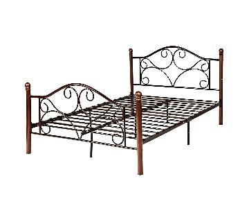 Fleur De Lis Living Full Size Metal Bed