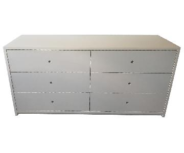 White Lacquer 6-Drawer Dresser